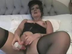 This To Invite YOU To Come And Party With Me A Long TEN MINUTE MOVIE With Me In Seamed Stockings Bringing Myself To A Long Shuddering Orgasm Lots Of Dirty Talk And For Once I Start With My Clothes On  This Is My 244th Movie and Its Handjob Heaven So Come