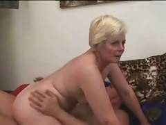 Muscled Stud Drills Slutty Aged Blonde 2