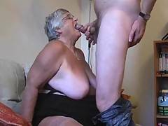 Grandma continues to feast on her favourite meat  rampant hard cock  before kneeling on the sofa begging for him to feed that cock into my juicy wet cunt doggy style