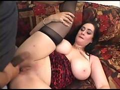 Annie is a true horny MILF with fantastic tits Shes also a dirty cock slut who takes on two bareback cocks in this movie Each one ends up filling her cunt with hot sticky cum