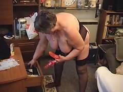Now Libby and Julia get down to some really hot sex as they explore and enjoy each others soft bbw bodies  Libby finds a couple of big dildoes in the drawer and they have great fun fucking each other with them