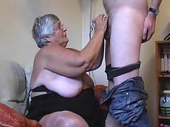 My fuckbuddy comes back to find a horny rampant old lady waiting for him and I cant wait to get my mouth around his cock while he plays with and kisses and sucks my tits and soft BBW curves